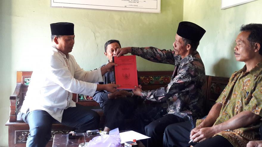 Image : Penyerahan LPPD Kepala Desa Kepada BPD